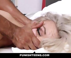 PunishTeens - Super Hot Teen Strapped Up & Slapped Around
