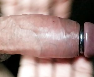 Ring make my cock excited and huge to the max