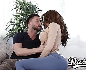 Chesty cougar Savana Styles makes stepsons dreams jizz true
