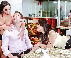 SCAM ANGELS - Wild group sex with Gina Valentina, Karlee Grey and Cindy Starfall