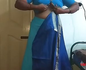 desi Indian  tamil aunty telugu aunty kannada aunty  malayalam aunty Kerala aunty hindi bhabhi horny cheating wife vanitha wearing saree showing big tits and shaved pussy Aunty Changing Dress ready for party and Making Video