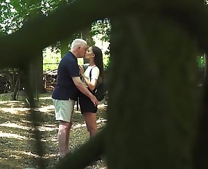 Russian Teen Romantic Lovemaking with old man horny and fuckable